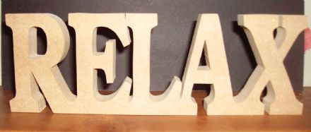 RELAX/ freestanding wooden plaque// birthday/gift